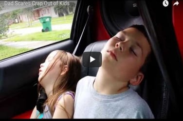 Watch how this dad scares his kids and wakes them up