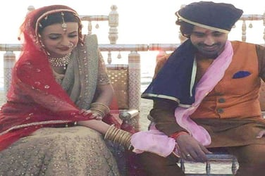 Just Married: TV heartthrobs Sanaya Irani and Mohit Sehgal tie the knot