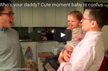 Who's your daddy? Baby gets confused upon seeing her father's identical twin
