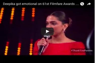 Must-watch: Deepika gets emotional as she reads a letter from her dad Prakash Padukone