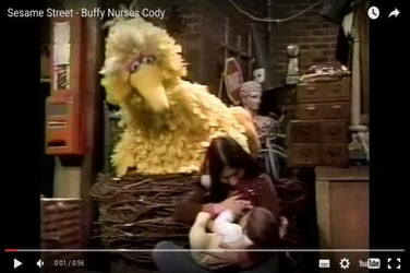 This Sesame Street video is the first televised instance of public breastfeeding