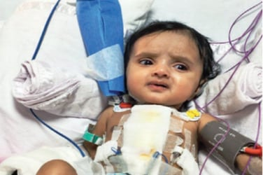 Unbelievable! Miracle baby from Solapur survives 20 heart attacks over two months
