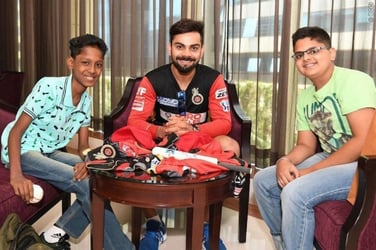 Virat Kohli meets kids from Make a Wish Foundation, gives them their 'dream come true' moment
