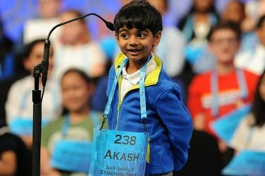 At 6 years, Akash Vukoti is the youngest competitor at the National Spelling Bee