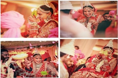 We can't stop looking at these gorgeous pics from Bipasha Basu's traditional Bengali wedding!