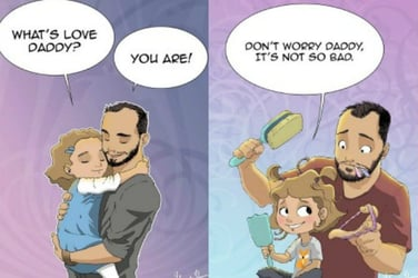 Single dad perfectly captures life with his daughter in heartwarming drawings