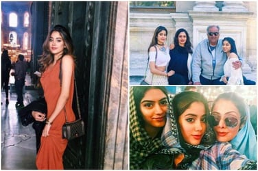 Sridevi's vacation pics with her daughters would give you major family goals