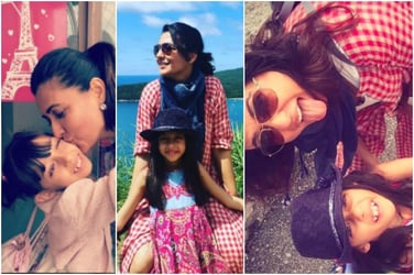 Gals day out: Mini Mathur goes country hopping with daughter Saira!