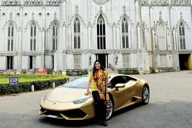 This Kolkata-based mum is India's first woman to own and drive a Lamborghini