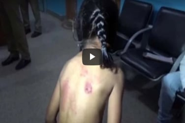 Shocking! Tuition teacher brutally beats 7-year-old girl with belt for not doing homework!