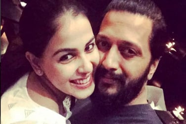 Hubby Riteish has the sweetest wishes for wife Genelia on her 28th birthday!