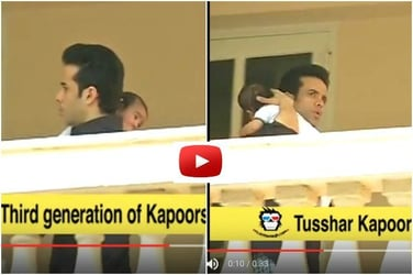 Video: Single dad Tusshar Kapoor looks super cute as he celebrates Ganesh Chaturthi with son Laksshya!
