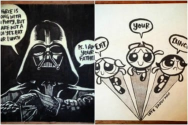 This dad draws Post-It notes for his daughter's lunchbox every day