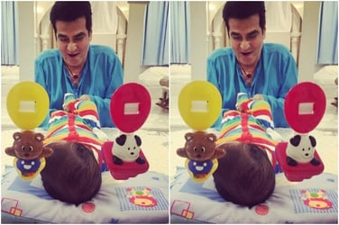 Have you seen dadu Jeetendra playing with his adorable pota Laksshya?