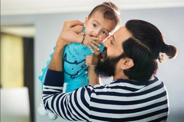 See Pic: New dad Riteish Deshmukh finally introduces his youngest son Rahyl