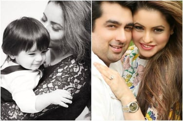 New mommy Aamna Shariff shares an adorable picture with her one-year-old baby boy!
