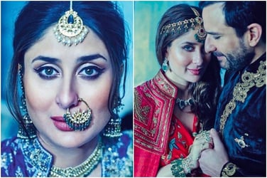 Just days before the baby arrives, parents-to-be Kareena Kapoor and Saif Ali Khan pose as royalty