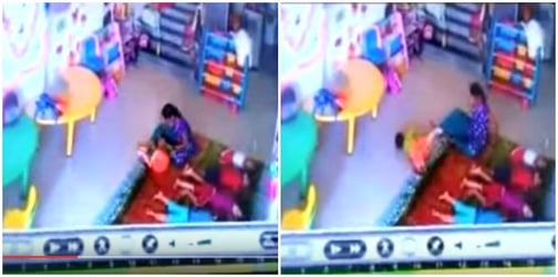 Horror at Mumbai daycare! 10-month-old brutally beaten up by caretaker! (Video Inside)