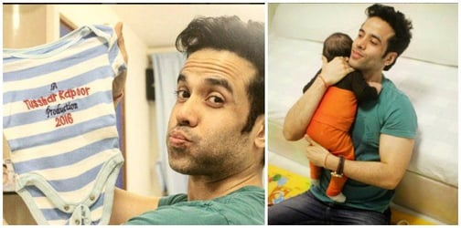 This pic is proof that single dad Tusshar Kapoor has learned all the ropes of parenting!