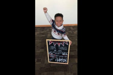 This lovable little boy has finally found his 'forever family'