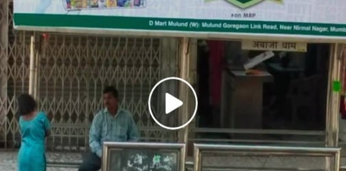 Shocking video shows Mumbai man openly sexually abusing minor girl at a bus stop!