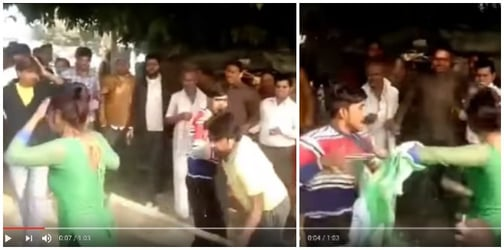 Video: Young mother mercilessly beaten by molesters in crowded UP market as she resisted them!