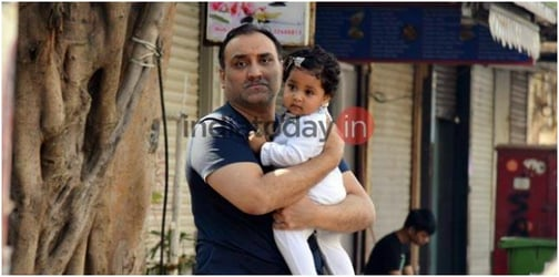 First pics! Baby Adira has a fun day out with dad Aditya Chopra