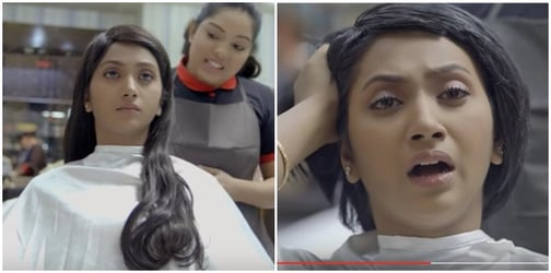 Watch! The reason why this woman gets her beautiful long hair chopped will SHOCK you!