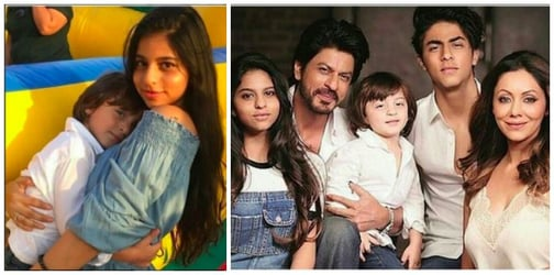 What Suhana and AbRam Khan's pic says about the sibling gap