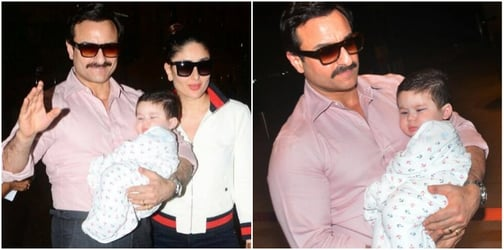 There he goes! Baby Taimur says 'goodbye' and jets off with parents in an all new look