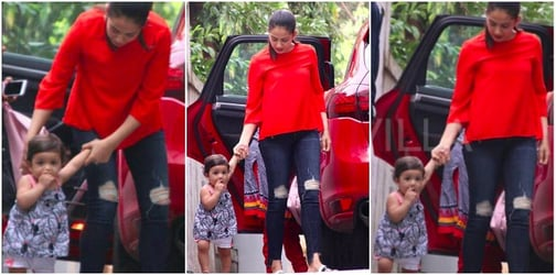 Aww! The adorable 11-month-old Misha Kapoor has finally started walking
