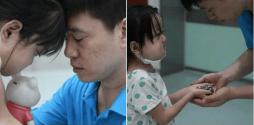 Selfless little girl refuses life-saving treatment, tells father to save baby sister instead