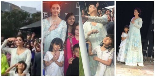 Watch: Aishwarya and Aaradhya sing the national anthem at the Indian film festival in Melbourne