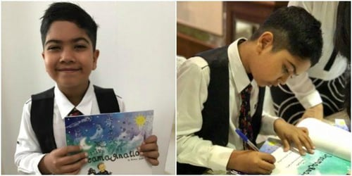 This 8-year-old boy authored and published his own book in Singapore!