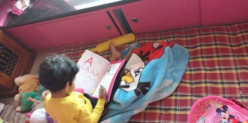 How my 3-year-old started writing herself