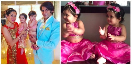 These pics of Karanvir Bohra's twins at a wedding are too CUTE to miss!