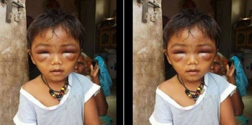 Horrific! A 3-year-old child is mercilessly beaten up by his tuition teacher