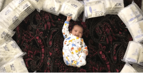 New mum pumps 8 gallons of breastmilk and does THIS with it!
