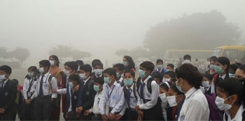 Toxic smog in Delhi forces schools to shut down and leads to a massive car accident!