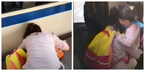 Phone Obsessed Mum Fails to See Daughter Falling on Train Tracks