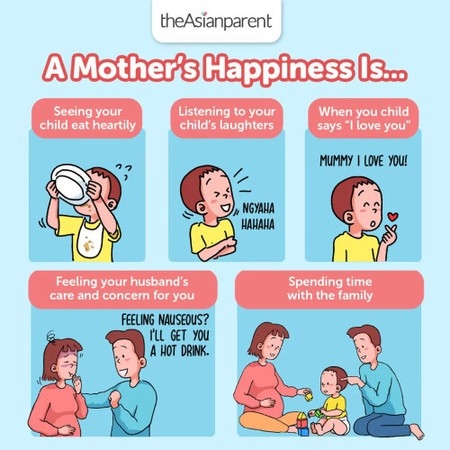 What makes you happy as a mother? 🤔  😄