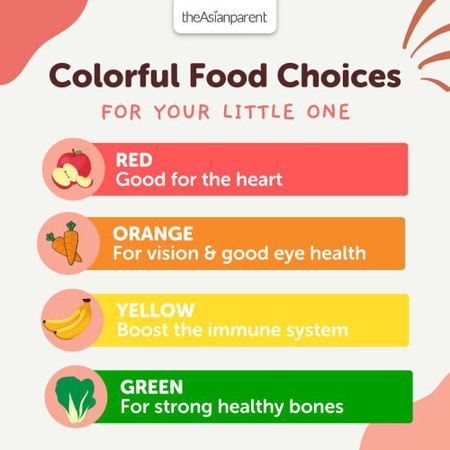 Colorful Food Choices for your Little One