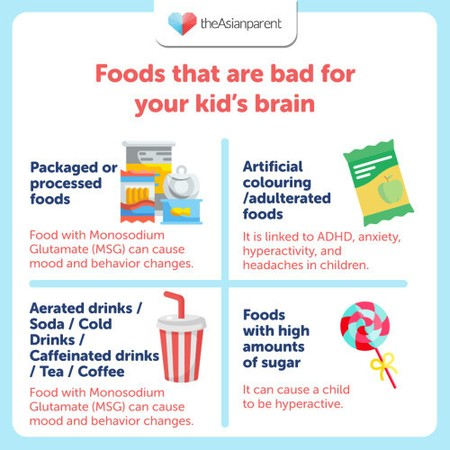 💡 Did You Know: Foods that are bad for your baby's brain 😋