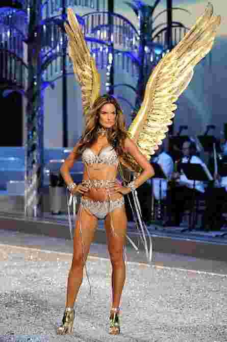 Alessandra rocked the Victoria's Secret fashion show in 2008, mere months after giving birth! (photo: NY Daily News)