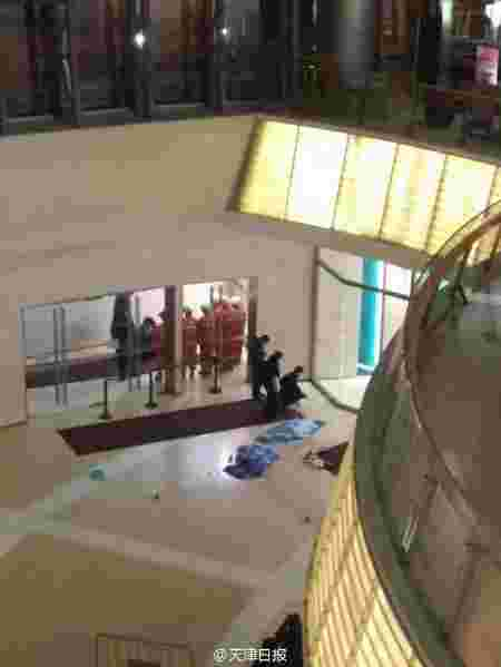 Two toddlers die after slipping from parent's arms and falling 4 floors in Chinese shopping mall