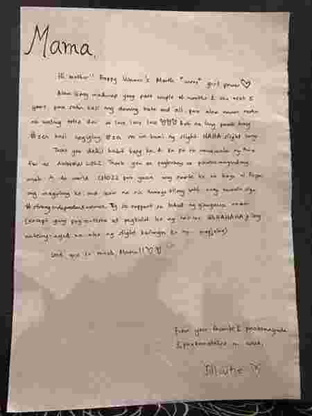 Leni Robredo shares touching letter she received from her daughter