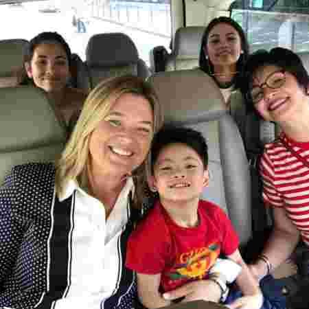 Ogie Alcasid marks 50th birthday in Paris with wife Regine, ex-wife Michelle and their kids!