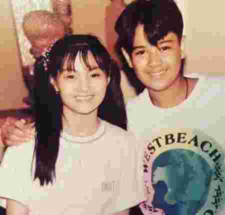 Young Gladys Reyes and Christopher Roxas