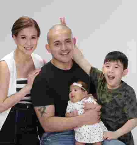 LJ Reyes with family