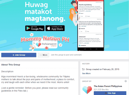 mommy groups ph